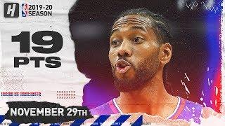 Kawhi Leonard RETURNS TO SAN ANTONIO 19 Pts Highlights | Clippers vs Spurs | November 29, 2019