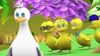 Cinq petits canards | Comptines pour Enfants | Dessin | Comptine Little Treehouse | Five Little Duck