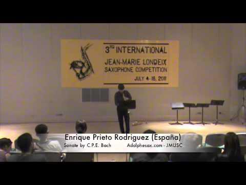 3rd JMLISC: Enrique Prieto Rodriguez (España) Sonate C.P.E. Bach
