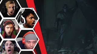 Let's Players Reaction To Their First Encounter With The Tyrant/Mr X | Resident Evil 2 Remake