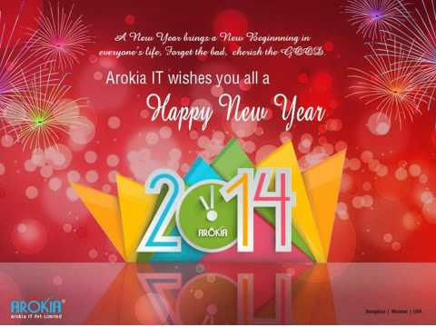 Arokia IT Pvt Limited  New Year Wishes