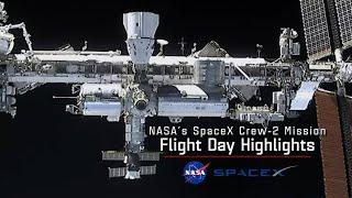NASA's SpaceX Crew-2 Flight Day 2 Highlights