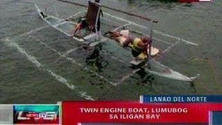 NTL: Twin engine boat, lumubog sa Iligan Bay, Lanao del Norte