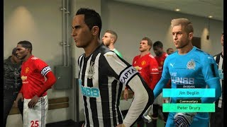 Newcastle United vs Manchester United 2018 | Full Match | PES 2018 Gameplay HD