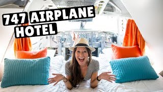747 AIRPLANE - WORLD'S COOLEST HOTEL | Cockpit Suite Tour