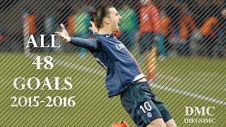 Zlatan Ibrahimovic ●  All Goals ●  2015/2016 HD