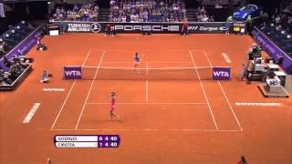 Julia Goerges (GER) vs Sorana Cirstea (ROU) 23 April 2014 - Porsche Tennis Grand Prix