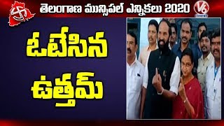 TPCC chief Uttam Kumar casts vote, alleges TRS distributes..