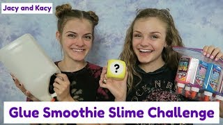 Glue Smoothie Slime Challenge ~ Jacy and Kacy