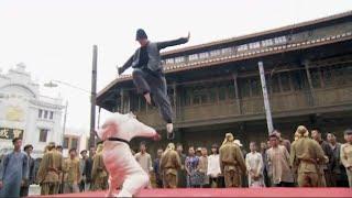 日本人小瞧中國功夫,少俠飛上擂台,打得他毫無還手之力   ⚔️  抗日