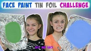 Face Paint Tin Foil Challenge 2 ~ Halloween Series 2017 ~ Jacy and Kacy