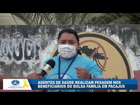 AGENTES DE SAÚDE REALIZAM PESAGEM NOS BENEFICIÁRIOS DO BOLSA FAMÍLIA EM PACAJUS