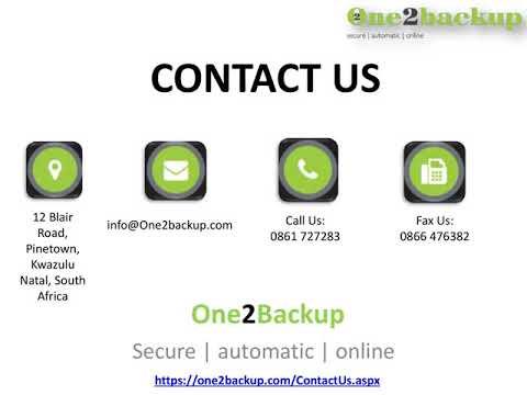 Online Backup Software One2Backup