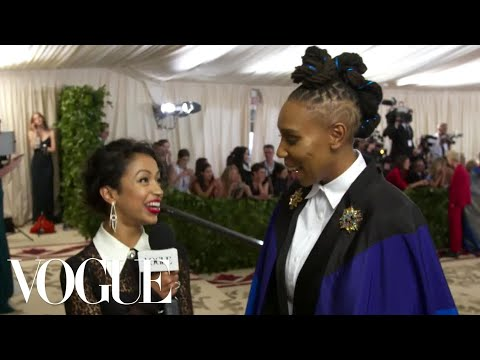 Lena Waithe on Her Rainbow Flag Cape | Met Gala 2018 With Liza Koshy | Vogue
