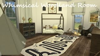 The Sims 4 |Whimsical Woodland Toddler Room - Speed build