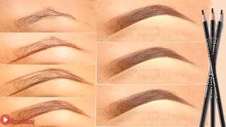 How To Draw Natural Eyebrows in 6 simple steps