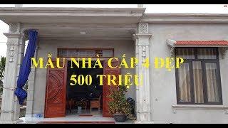 Thăm Quan Mẫu Nhà Cấp 4 Đẹp Diện Tích 10x12m - Gía 500 Triệu Tại Ninh Bình