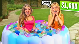 FILLING my pool with a THOUSAND Bath Bombs **LAST TO LEAVE Challenge**💦| Piper Rockelle