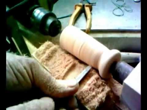 Creare con il legno con un tornio fatto con un trapano comune musica movil - Tornio per legno fatto in casa ...