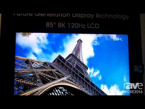 DSE 2016׃ Sharp Shows Off 85 Inch 8K 120Hz LCD Display With HDR Technology