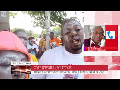 Côte d'Ivoire : Des partisans de M. Laurent Gbagbo arrêtés au soir de son retour.