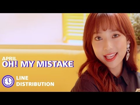 APRIL - Oh! My Mistake : Line Distribution (Color Coded) | 에이프릴 - 예쁜 게 죄
