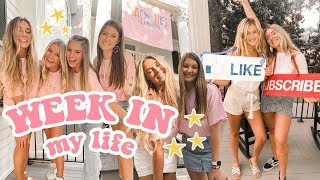 college week in my life at UGA: sorority events, big-little reveal, classes, & more!
