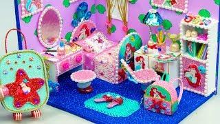 DIY Miniature Dollhouse Room ~ Ariel Room Decor, Backpack