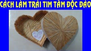 Cách làm trái tim bằng tăm tiền ít ý nghĩa nhiều - DIY heart