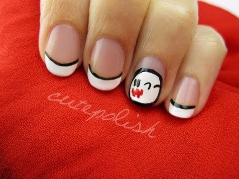 Ghost Boo Nails (from Mario!) - YouTube