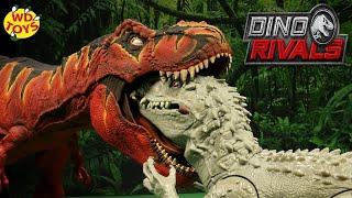 T-REX EATS INDOMINUS REX! Jurassic World Custom Colossal T-Rex Fallen Kingdom Mattel Vs Hasbro