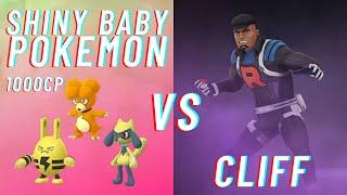 SHINY BABY POKEMON BELOW 1000CP VS TEAM ROCKET LEADER CLIFF