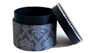 How to Make a Gift Box - DIY Round Box With Lid