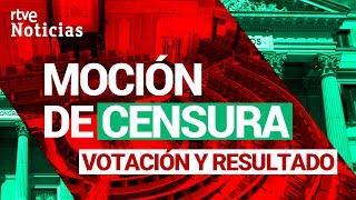 RECHAZADA la MOCIÓN de CENSURA de VOX que sólo recibe sus 52 VOTOS  | RTVE Noticias