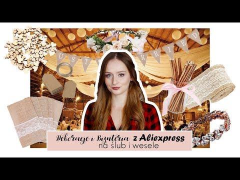 Co warto kupić na aliexpress na ślub i wesele?   Dekoracje i biżuteria z alie   Rustykalne wesele