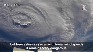 U.S. coast battered by wind, rain as Hurricane Florence closes in