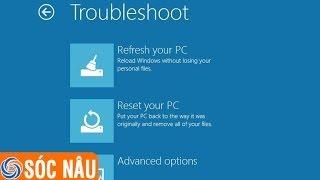 Cách Làm Mới Windows 8 Về Trạng Thái Ban đầu