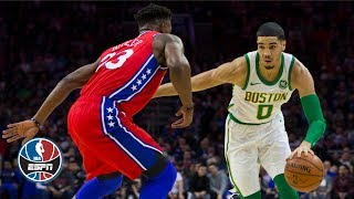 Jayson Tatum fuels Celtics without Kyrie Irving in win vs. Sixers | NBA Highlights