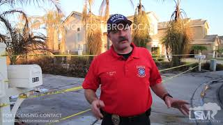 10-10-17 - Anehime Hills, CA - Interview of Anaheim Fire Dpt PIO at Canyon Fire 2 Evacuee
