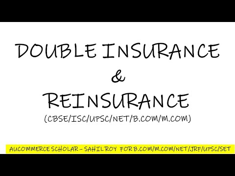 DOUBLE INSURANCE AND REINSURANCE