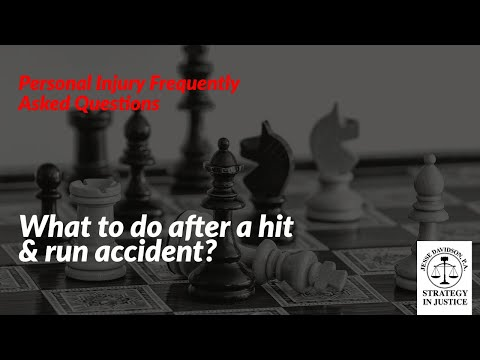What to do after a hit & run accident? | Steps to follow after a hit and run?