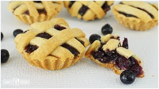 Blueberry Pie Recipe - Mini Pies! Filling & Pie Crust Recipe!