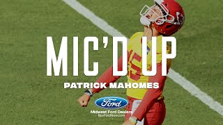 "Patrick Mahomes Mic'd Up during Chiefs Training Camp: ""Put the Donut Over the Cone!"""