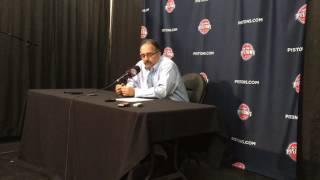 Stan Van Gundy reacts to Pistons' 109-95 win over Bulls