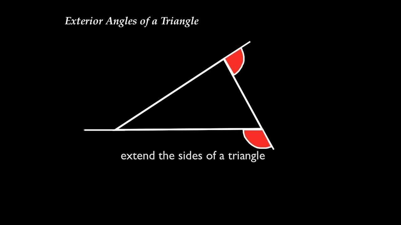 Exterior angles of a triangle exterior angle - How to work out an exterior angle ...
