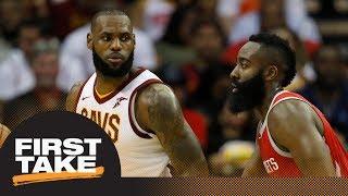 First Take debates NBA MVP right now: LeBron James or James Harden | First Take | ESPN