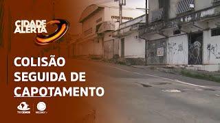 COLISÃO SEGUIDA DE CAPOTAMENTO: Sinalização precária pode ter motivado acidente