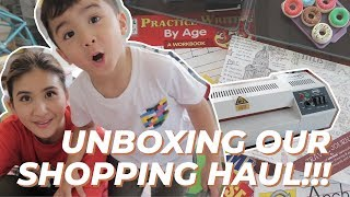 Unboxing Art and School Supplies with Philip! (Think laminator+activity books and more!!!)