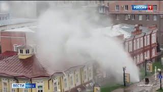 В Омске сегодня ликвидировали последствия сразу двух серьезных коммунальных аварий