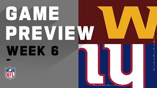 Washington Football Team vs. New York Giants | NFL Week 6 Game Preview